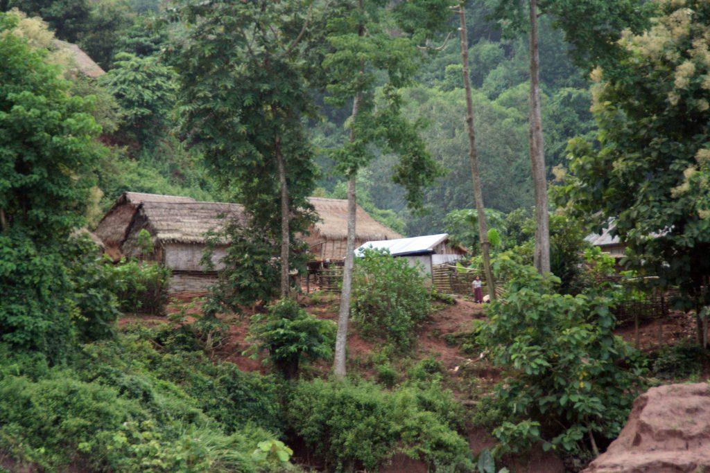 Burmese Village Mekong River