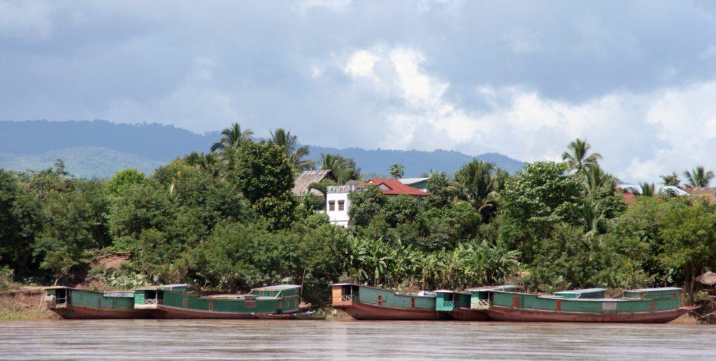 Lao Port on the Mekong