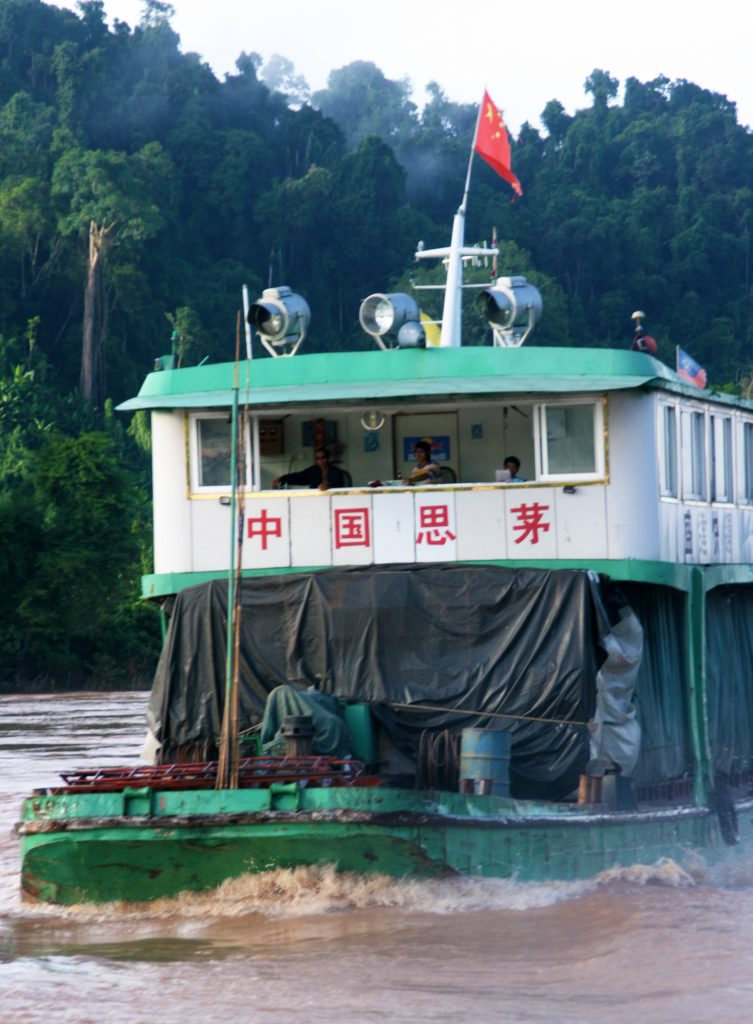 Mekong River Traffic Chinese Boat