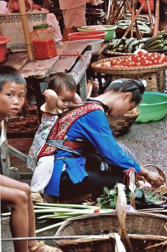 curious child at Rongjiang Market 榕江市场 Guizhou Province 贵州省