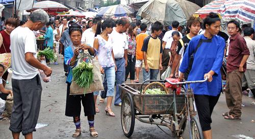 sellers at dong minority at Rongjiang Market 榕江市场 Guizhou Province 贵州省