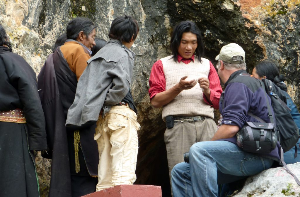 Pilgrims Zhira Gompa