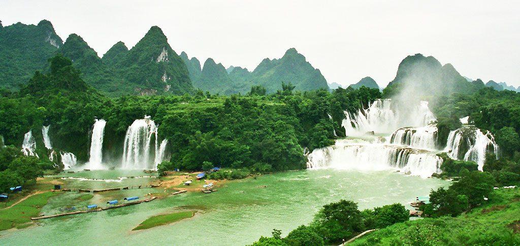 Detian Waterfall Separating China and Vietnam