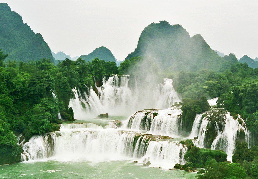 Detian Waterfall Separating China and Vietnam