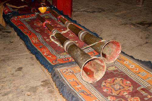 trumpets Beri Gompa of the Gelukpa Sect