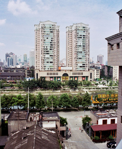 Chengdu Seen from the Traffic Hotel