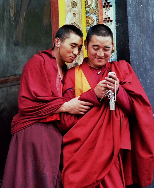 mobile monks Kangding