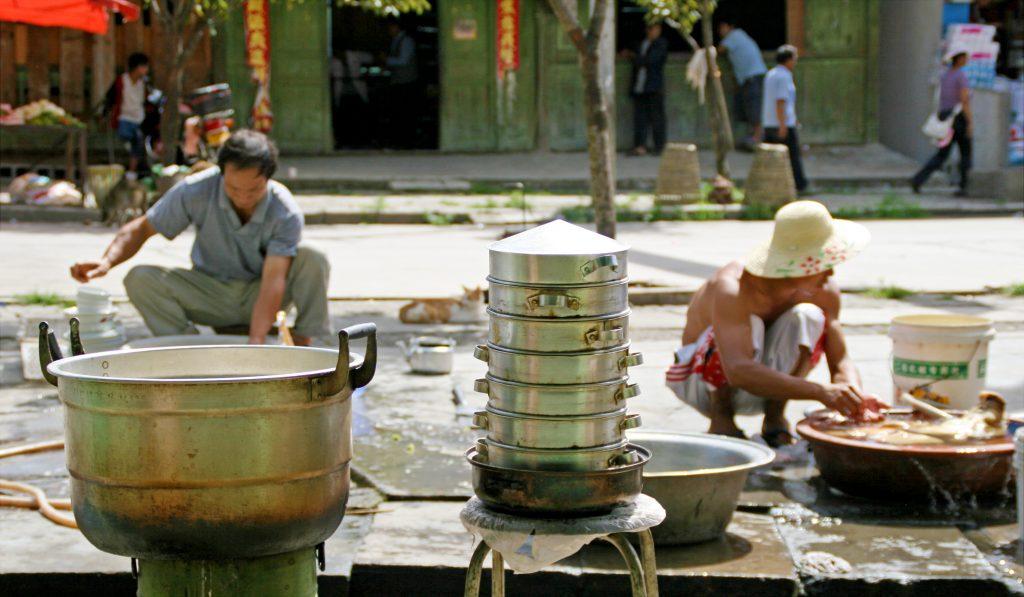 Preparing Food In Bingzhongluo
