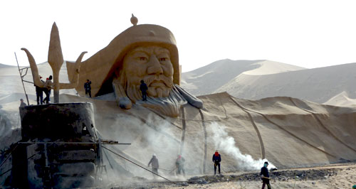 Ghengis Khan at The World's Highest Sand Dunes