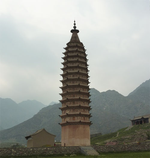 The twin Pagodas of Baisikou