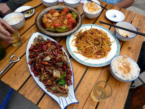 Lunch at Gunzhongkou