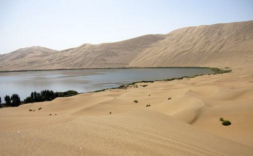 Lake The Badain Jaran desert