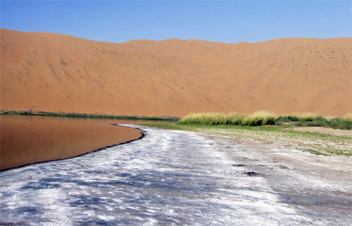 The Badain Jaran desert