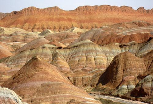 Danxia Landform Geology Park 张掖丹霞地貌。