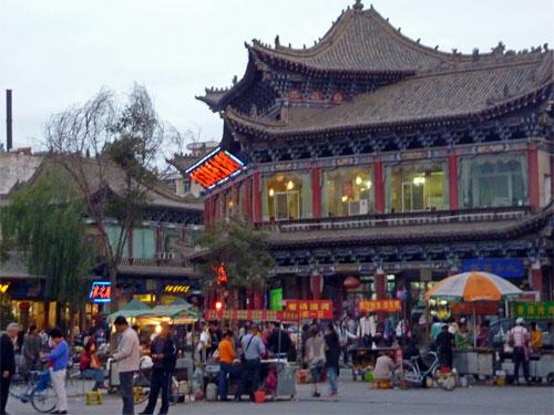 Zhangye at night