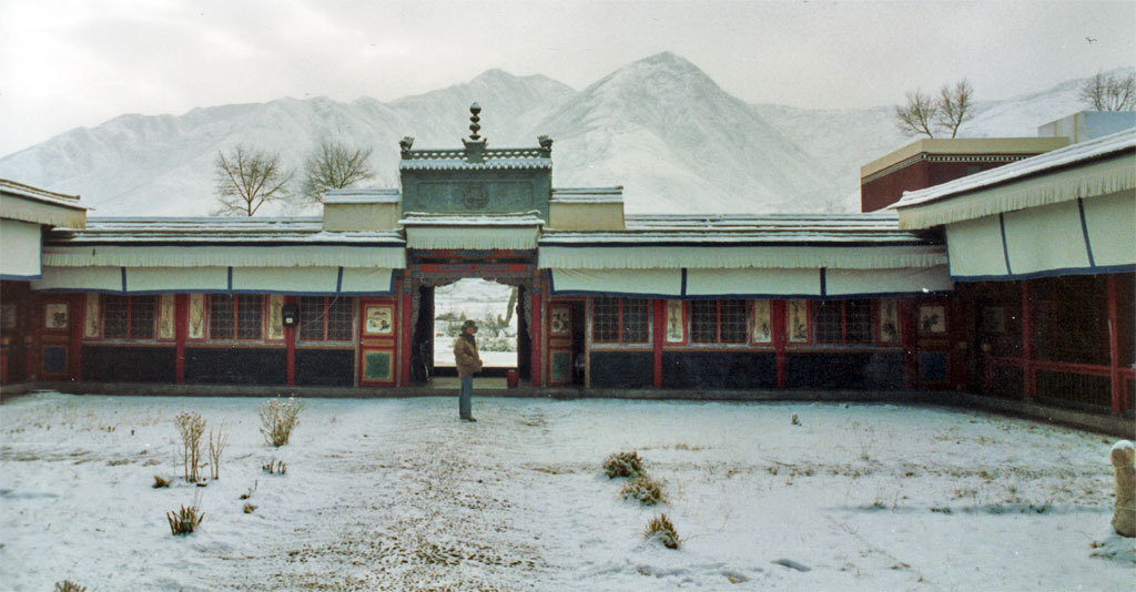 Labuleng hotel in the snow xiahe 1990