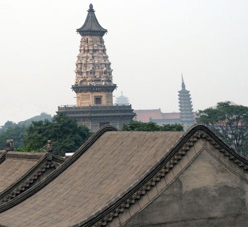 Zhending  Temple studded Skyline