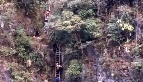 Sangzi Village Hunan Province: And I thought my Journey to class was bad