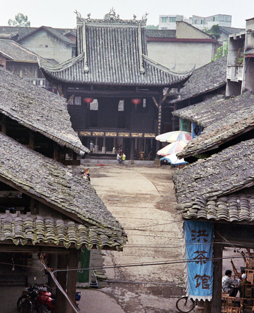 Luocheng boat shaped village teahouses