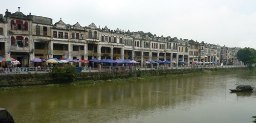 Chikan 赤坎 River Front  Qilou Buildings