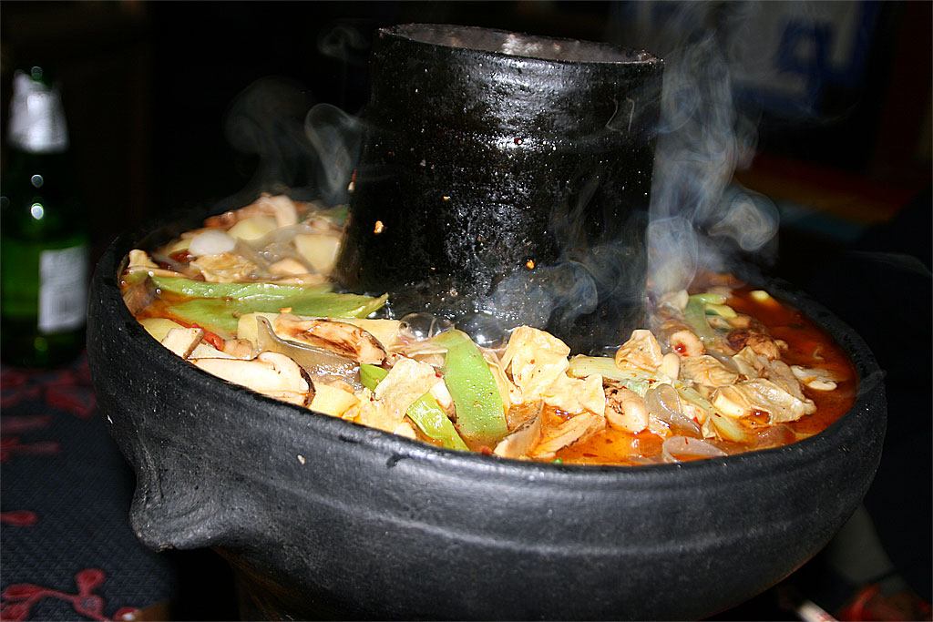 Mushroom Hot Pot in zhongdian/ Dukezong 2007