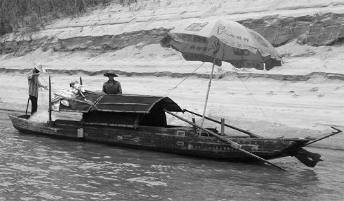 Sanpan on the Beijiang River