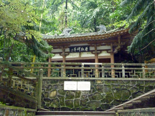 Pavilion in the forest