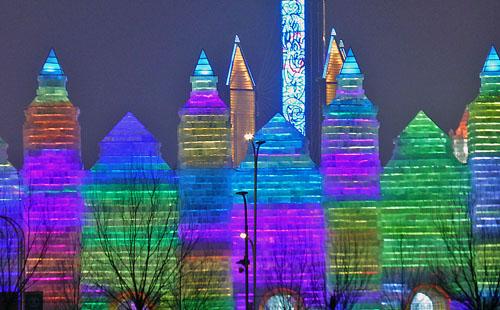 Harbin Ice Skyscrapers