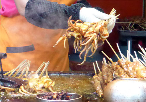 Grilled Squid at Taiyuan-s wonderful night market