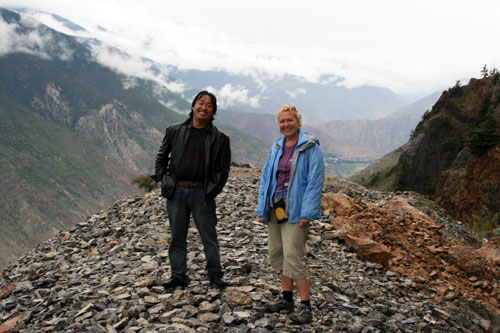 Margie and ourTibetan Driver