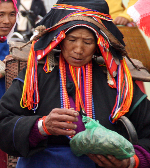 Hani Women Xiding Market 西定市场 Yunnan
