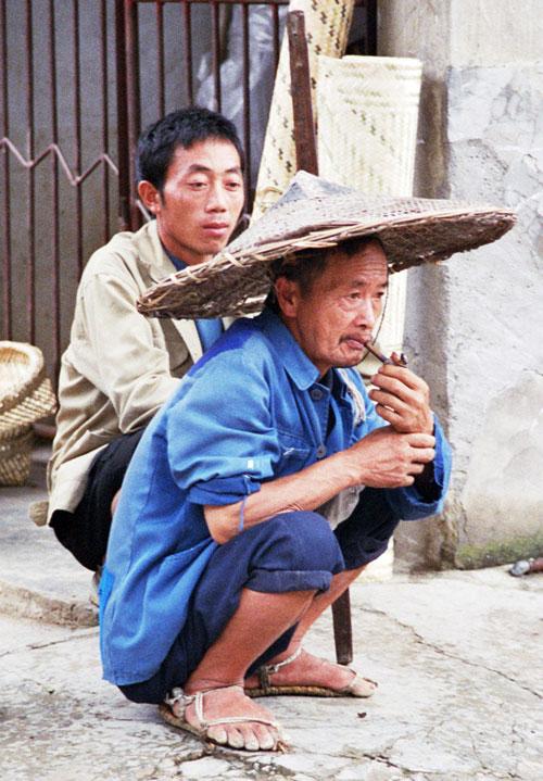 smoking and Squatting Chong'an Market