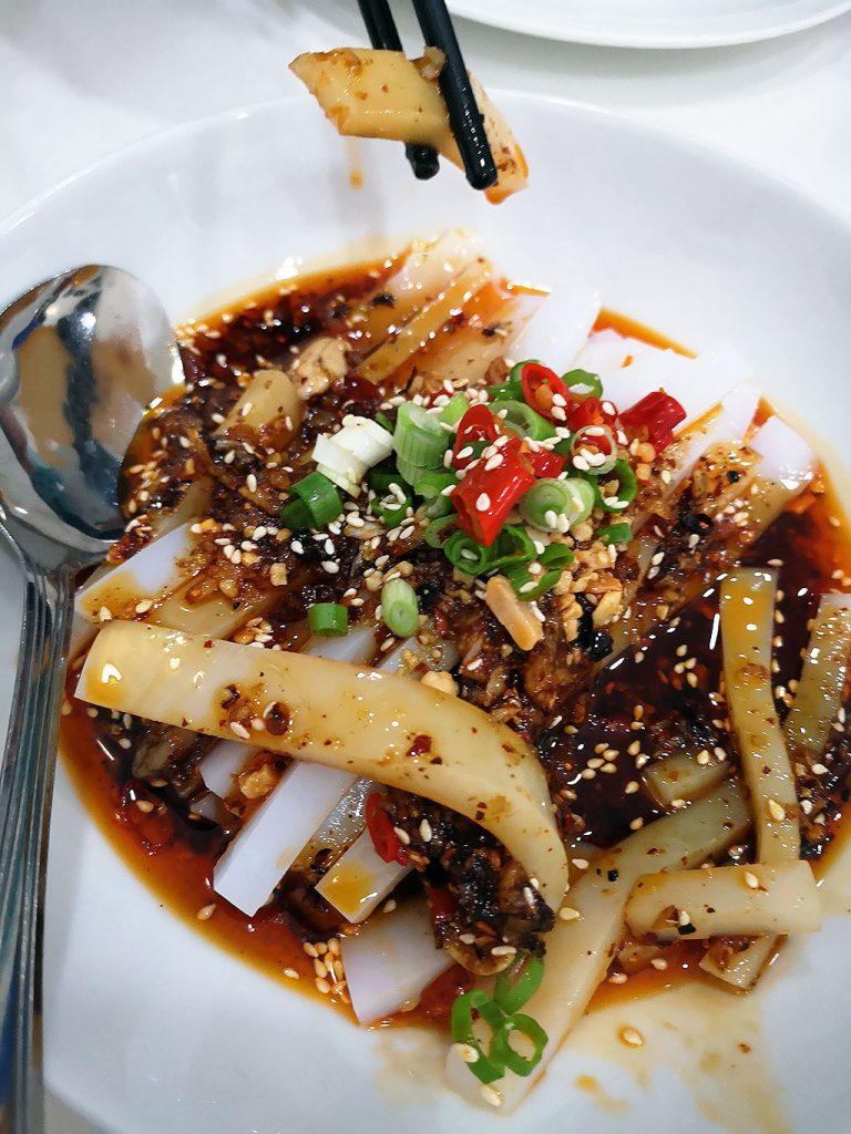 川北凉粉 spicy mung bean noodles Authentic Sichuan Food in Madrid