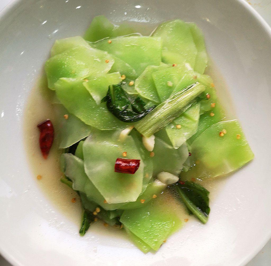 炒莴笋 fried lettuce stems Authentic Sichuan Food in Madrid