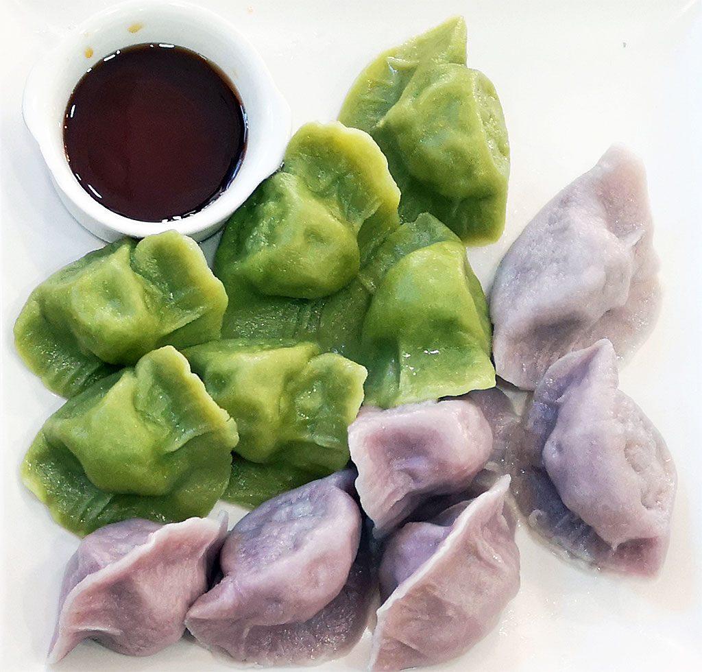 Mixed Prawn and Veggie Dumplings  THREE LITTLE PIGS RESTAURANT / LOS TRES CERDITOS: PASEO DE LAS DELICIAS 73, MADRID