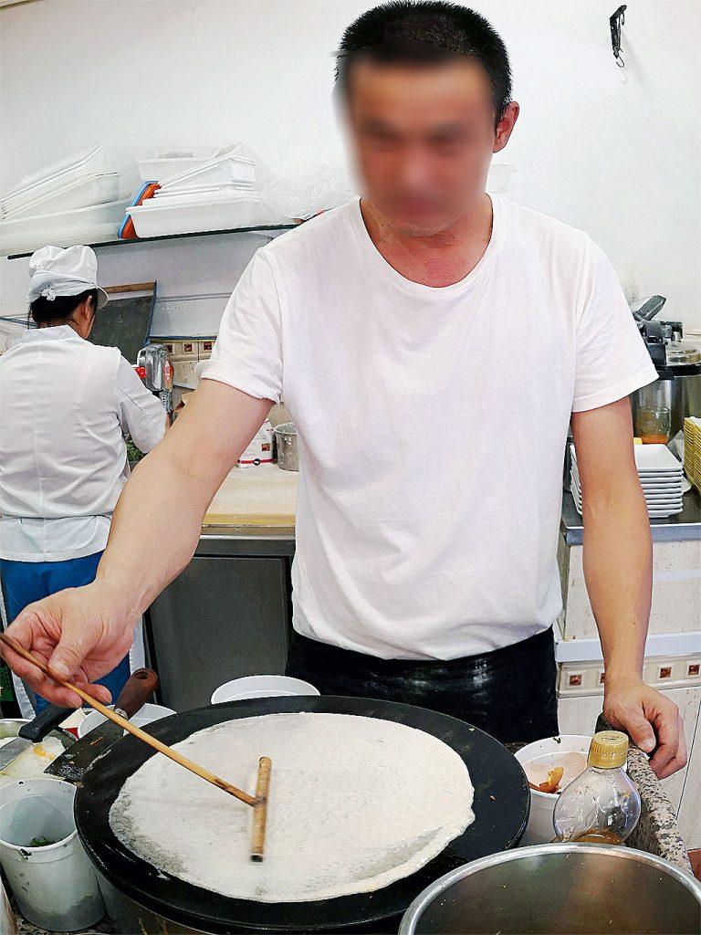 Making Jian Bing Chinese Pancake