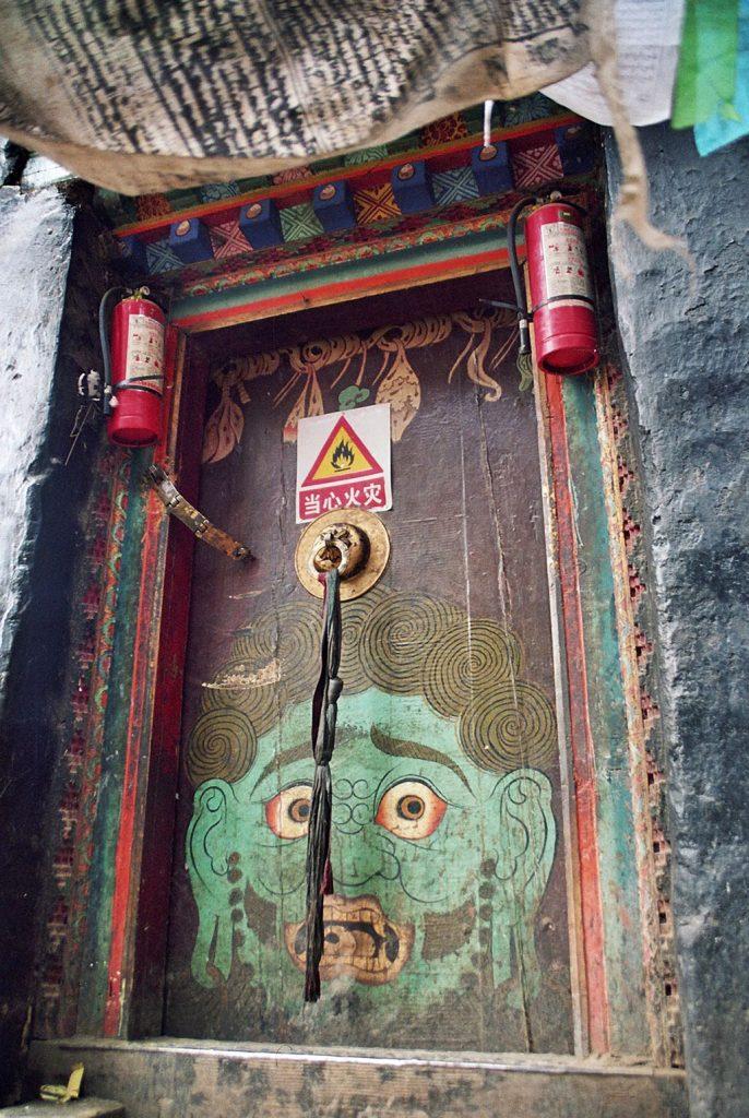 painted door Shalu Monastery 夏鲁寺: Tibet