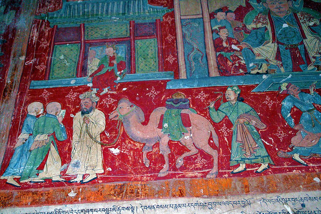 amzing paintings on the walls of Shalu Monastery 夏鲁寺: Tibet