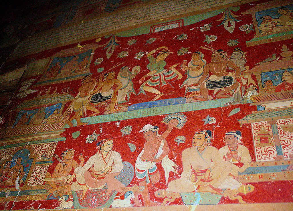 paintings on the walls of Shalu Monastery 夏鲁寺: Tibet