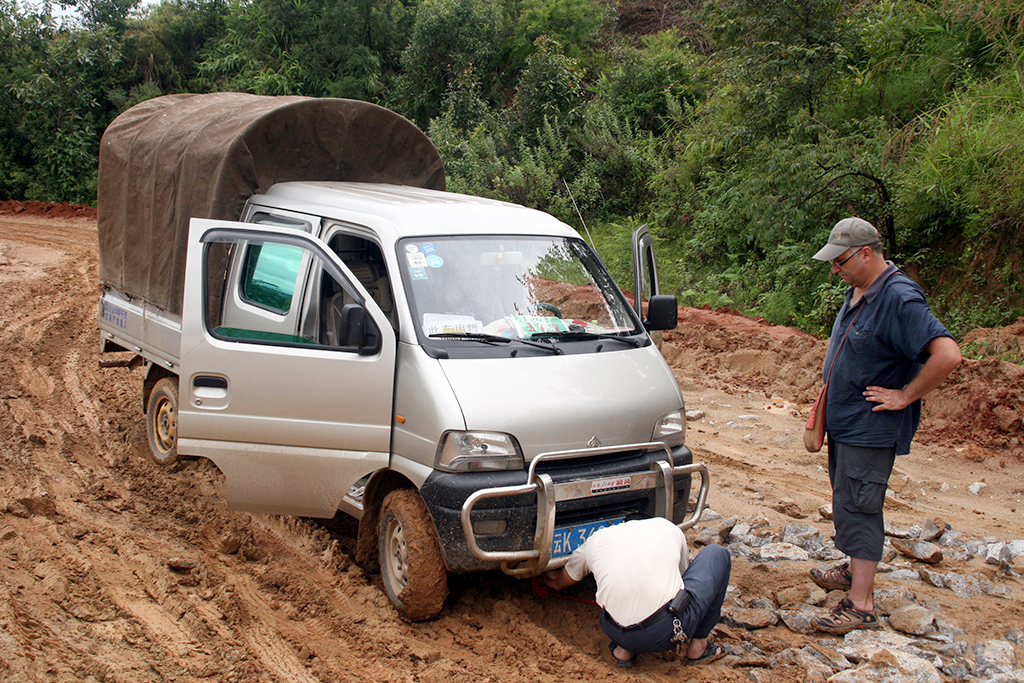 stuck in the mud near Menghai