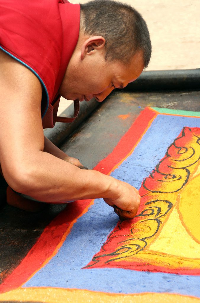 Ramoche Temple Lhasa Making Sand Mandalas