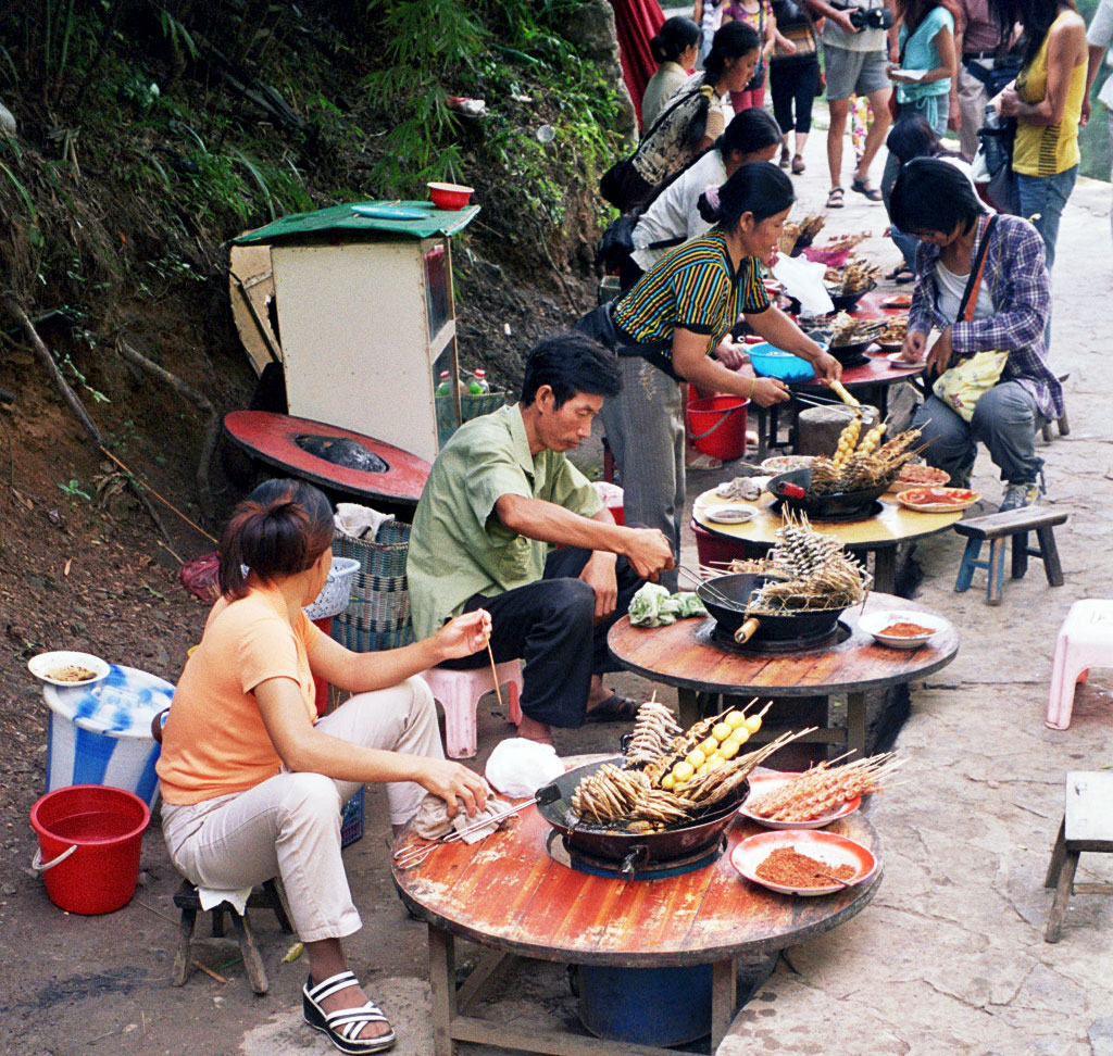 lunch on the Wuyang River 舞阳河, Zhenyuan 镇远 Guizhou 贵州