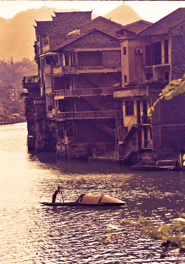 sunset Zhenyuan Guizhou镇远贵州 One of Guizhou's Most Attractive Towns