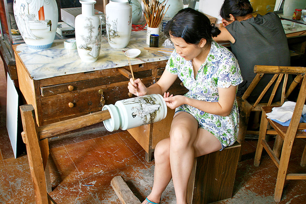 potters at work in Jingdezhen; the Land of Porcelain