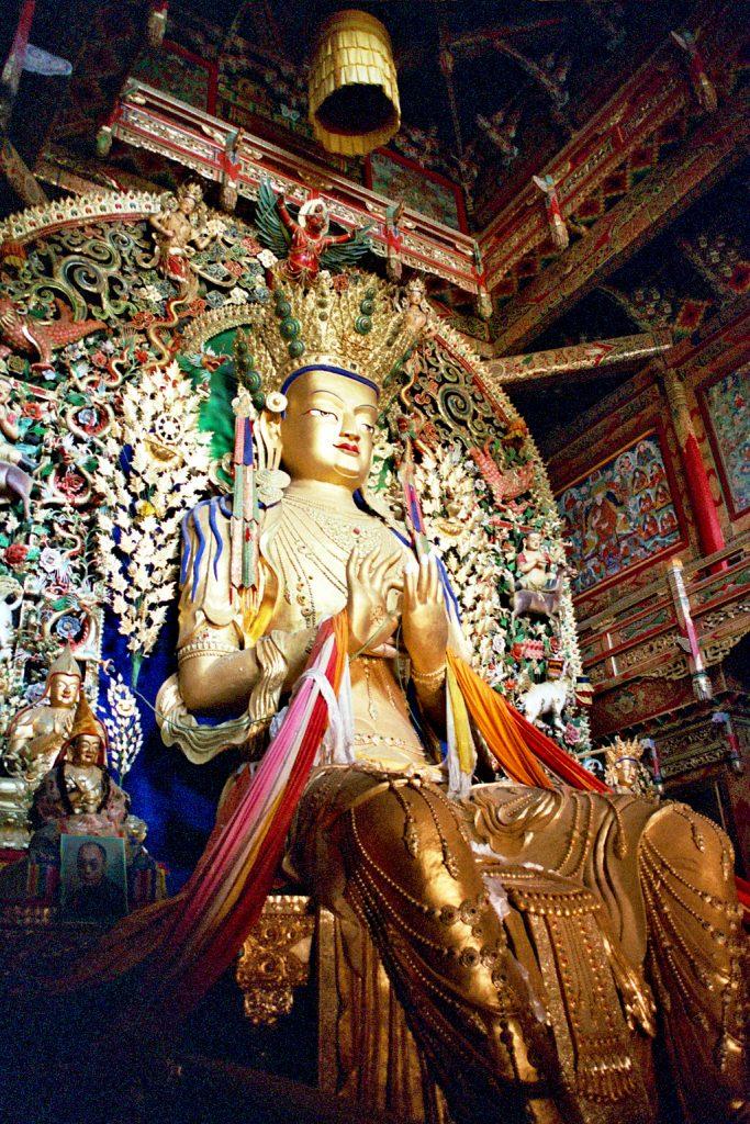 statue in longwu temple tongren qinghai
