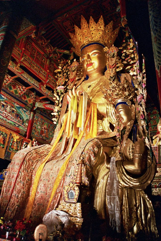 longwu temple statue tongren qinghai province china