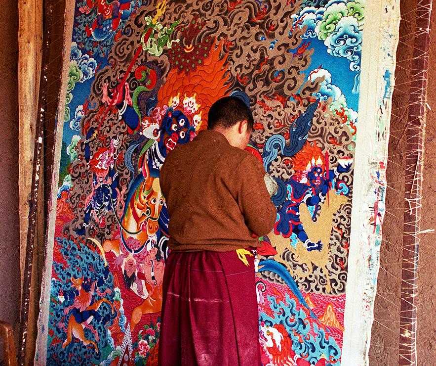 The Thangka Painters of Tongren 同仁 Qinghai Province 青海省