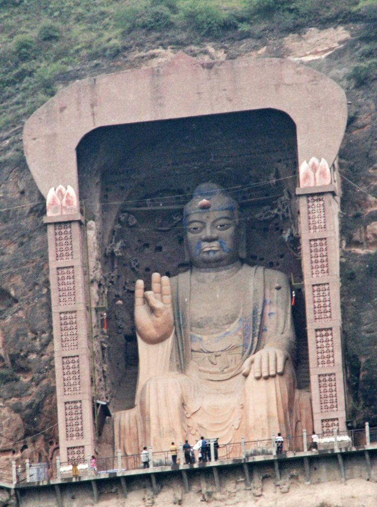 The Giant Moustached Buddha at Ganggu 甘谷; Daxiang Shan 大像山