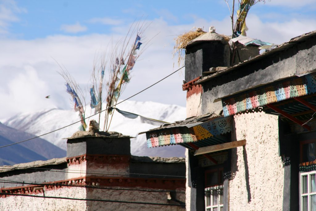 Traditional buildings in Gyantse
