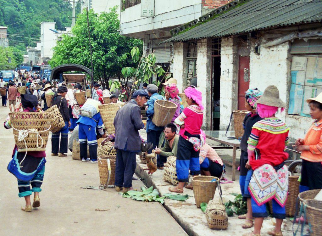 Yi minority Laomeng Market 老勐 市场 Jinping Yunnan